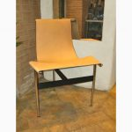 "Katavolos, Littell and Kelly ""T chair"" in natural leather"