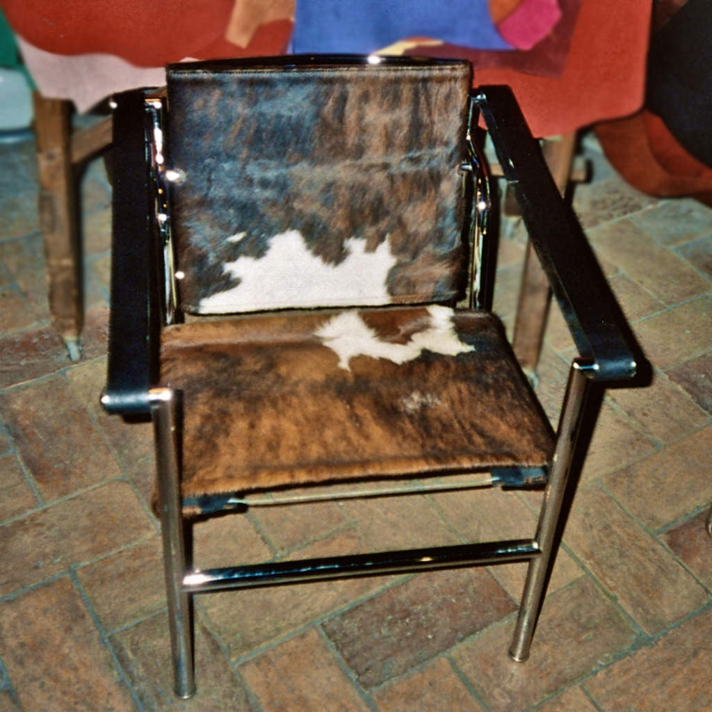 "Le Corbusier ""LC1 Basculant"" chair in pony hide - Dario Alfonsi"