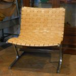 "Ross Littell ""PLR1″ chair in natural leather"