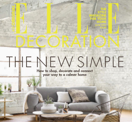 "Elle Decoration UK features one of Dario's ""Tripolina"" chairs"