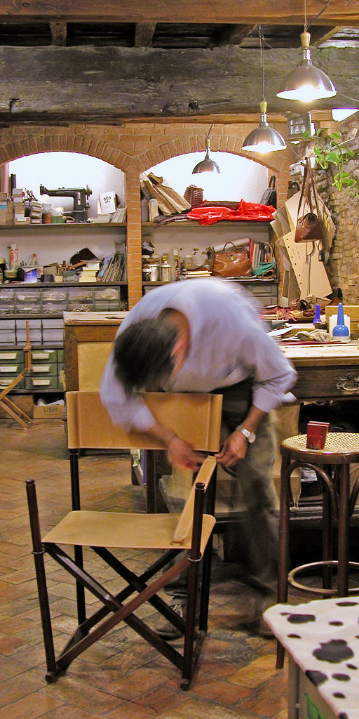 Final assembly of a restored Mogens Koch chair